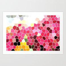 Pattern 5 - pink explosion Art Print