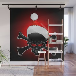 Christmas Santa Black Skull Wall Mural