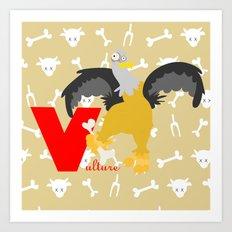 V for vulture Art Print