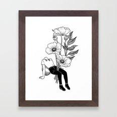 Let me bloom Framed Art Print