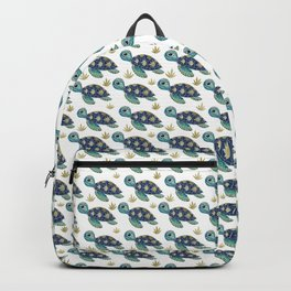 Cute Blue Sea Turtle Backpack