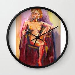Sitting Lady Wall Clock
