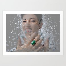 smiles and rings Art Print