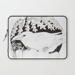 Crow with Pumpkins and Oak Laptop Sleeve