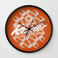 tomb raider Wall Clocks featuring RAIDER by Geekleetist