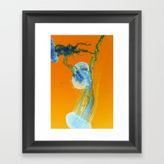jelly in neon Framed Art Print