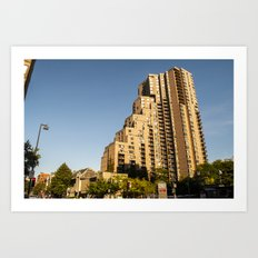 Stacked Apartments Art Print