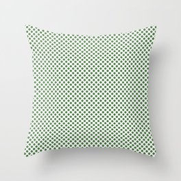 Hippie Green Polka Dots Throw Pillow