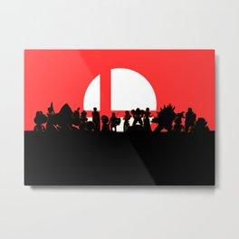 Super Smash Bros Ultimate Fanart Metal Print