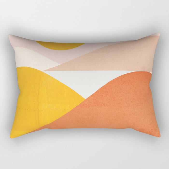 Abstraction_Mountains Rectangular Pillow