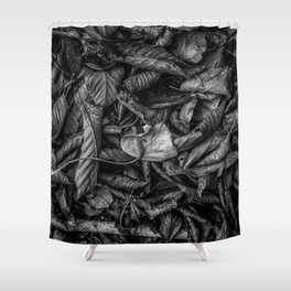 dried leaves Shower Curtain