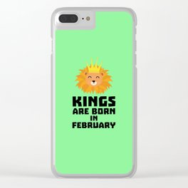 Kings are born in FEBRUARY T-Shirt D9z5c Clear iPhone Case