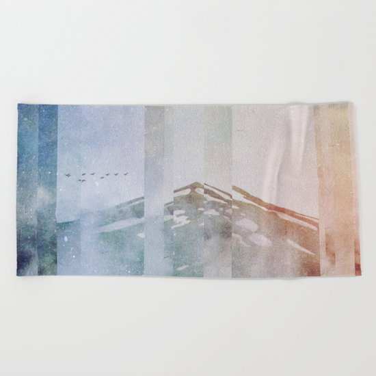 Fractions A38 Beach Towel
