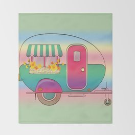 Happy Camper RV Camping Throw Blanket
