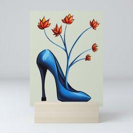 High Heel Shoe With Flowers Surreal Art Mini Art Print