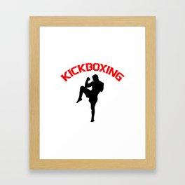 Kickboxing Framed Art Print
