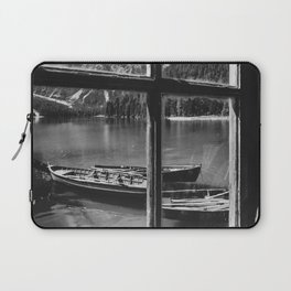 Through the Window (Black and White) Laptop Sleeve