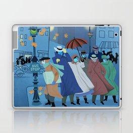November Evening Bus Stop Laptop & iPad Skin