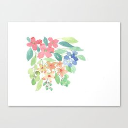 Cluster of flowers Canvas Print