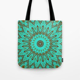 Kaleido in Oxidized Copper Tote Bag