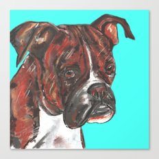 Boxer printed from an original painting by Jiri Bures Canvas Print