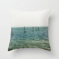 Ombre Sea Throw Pillow