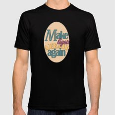 Make Bigots Afraid Again MEDIUM Mens Fitted Tee Black