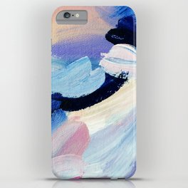 Bibbity Bobbity Blue (Abstract Painting) iPhone Case