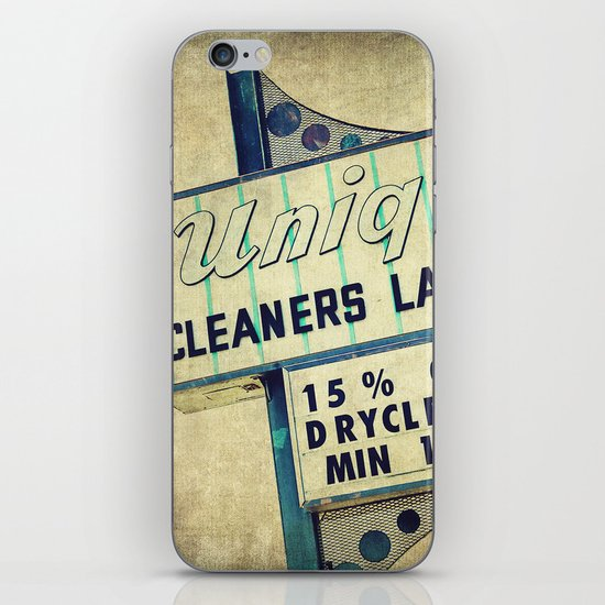 Unique Laundry Sign iPhone & iPod Skin
