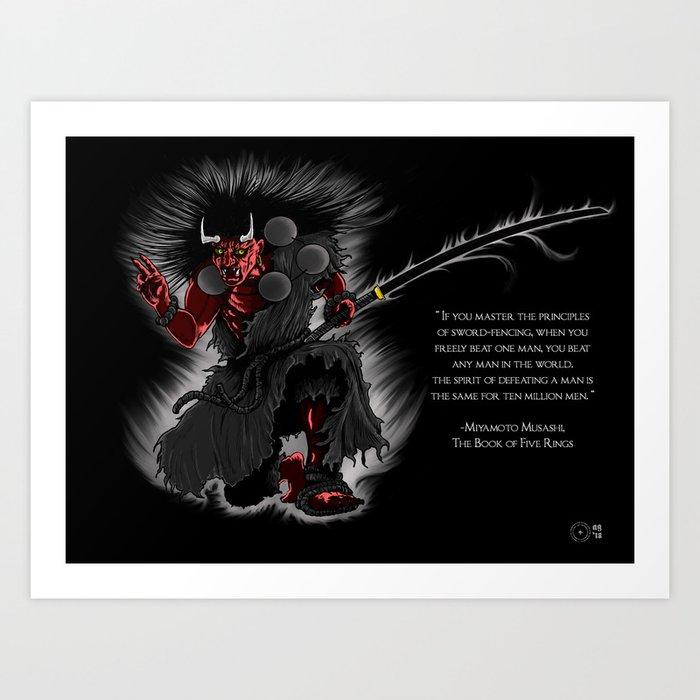 Oni Demon Art Print