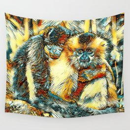 AnimalArt_Gibbon_20170901_by_JAMColorsSpecial Wall Tapestry