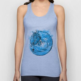 Dragon Waves Unisex Tank Top