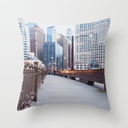 Chicago at Dusk Throw Pillow