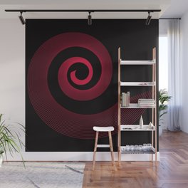 Red black spirale 5 Wall Mural