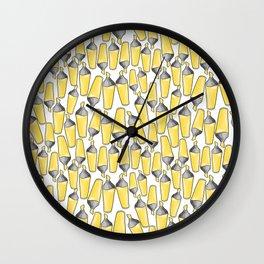 doodle felt pen pattern Wall Clock
