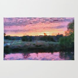 Monet Inspired Sunrise Rug