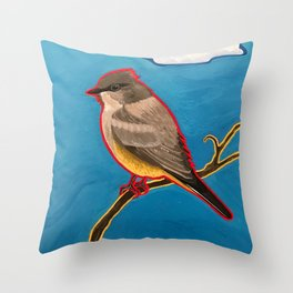 Say's Phoebe Throw Pillow