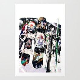 Snowboard Season Art Print