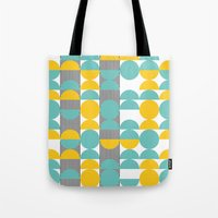 60s Tote Bags featuring 60s pattern 02 by Ioana Luscov