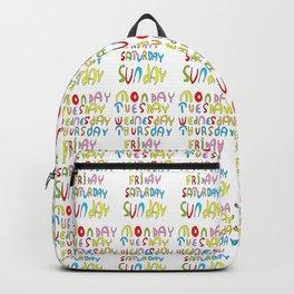 days in a week 1- day,week, daytime,dia,semana,child,school Backpack