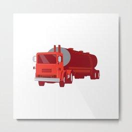 Tanker Cement Truck Retro Metal Print