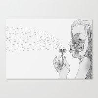 dandelion Canvas Prints featuring 'Dandelion' by Alex G Griffiths