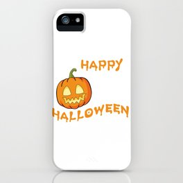 Happy Halloween Pumpkin iPhone Case