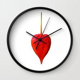 Physalis Heart Love Wall Clock