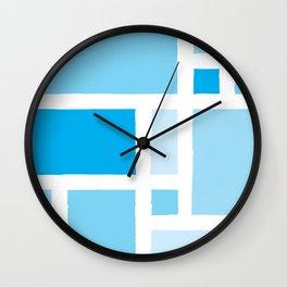 Mondrian has the Blues Wall Clock