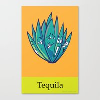 tequila Canvas Prints featuring Tequila by Heather Martinez