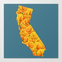 California in Flowers Canvas Print