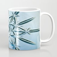 snowflake Mugs featuring Snowflake by Jerel Cardona