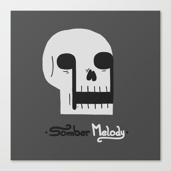 Somber Melody Canvas Print