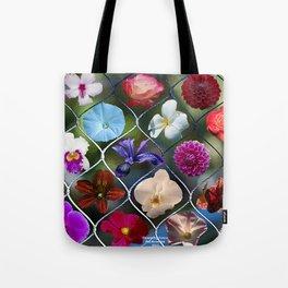 Flowering Fence Tote Bag
